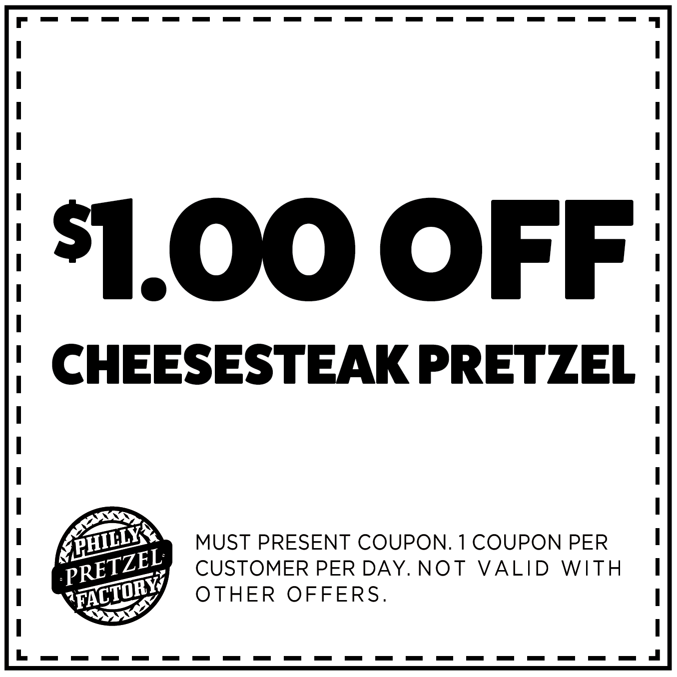 $1 Off Cheesesteak Pretzel