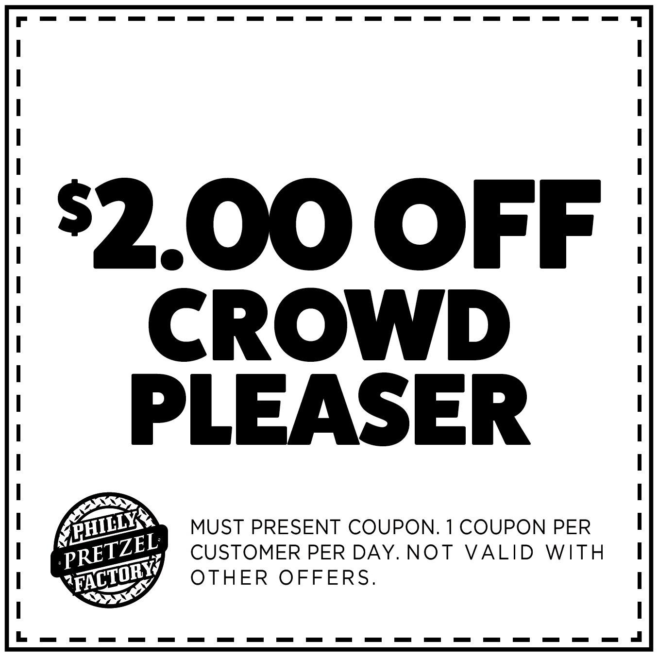 $2 Off Crowd Pleaser