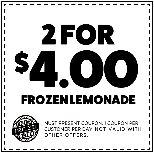 2 for $4 Frozen Lemonade