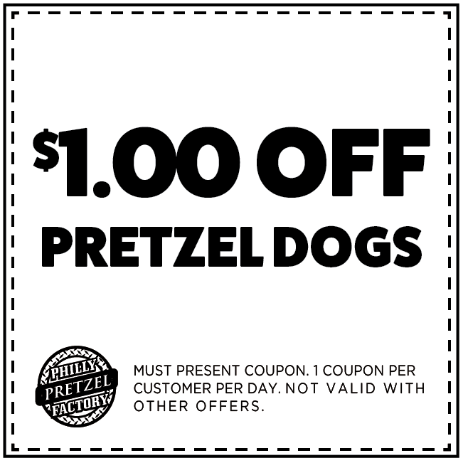 $1 Off Pretzel Dog