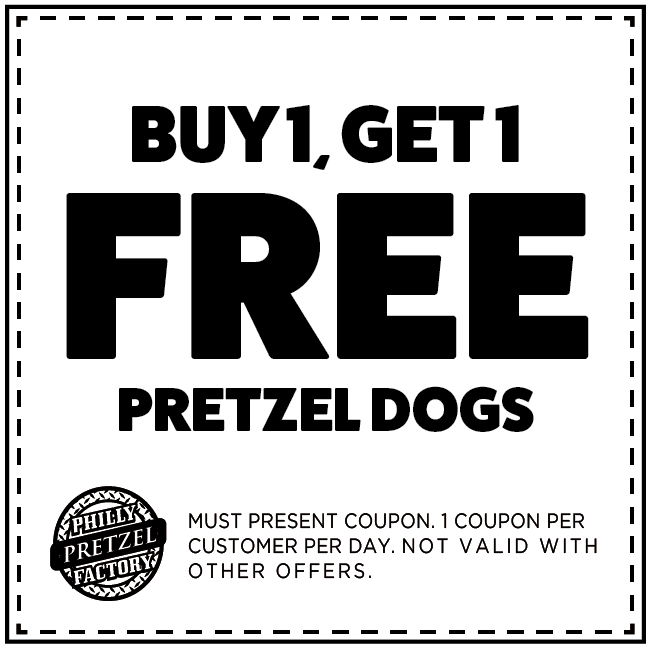 Buy 1 Get 1 Free Pretzel Dog