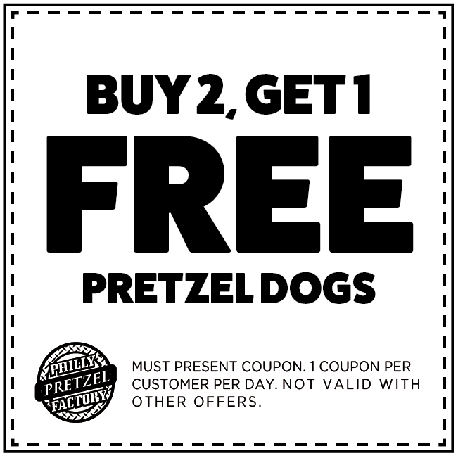 Buy 2 Get 1 Free Pretzel Dogs