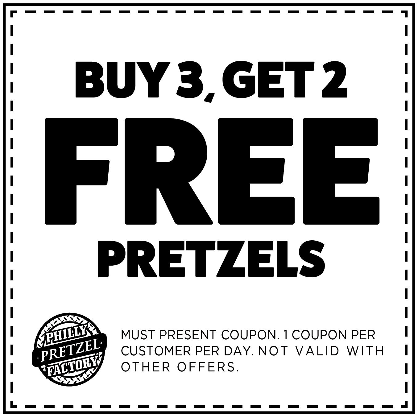 Buy 3, Get 2 Free Pretzels