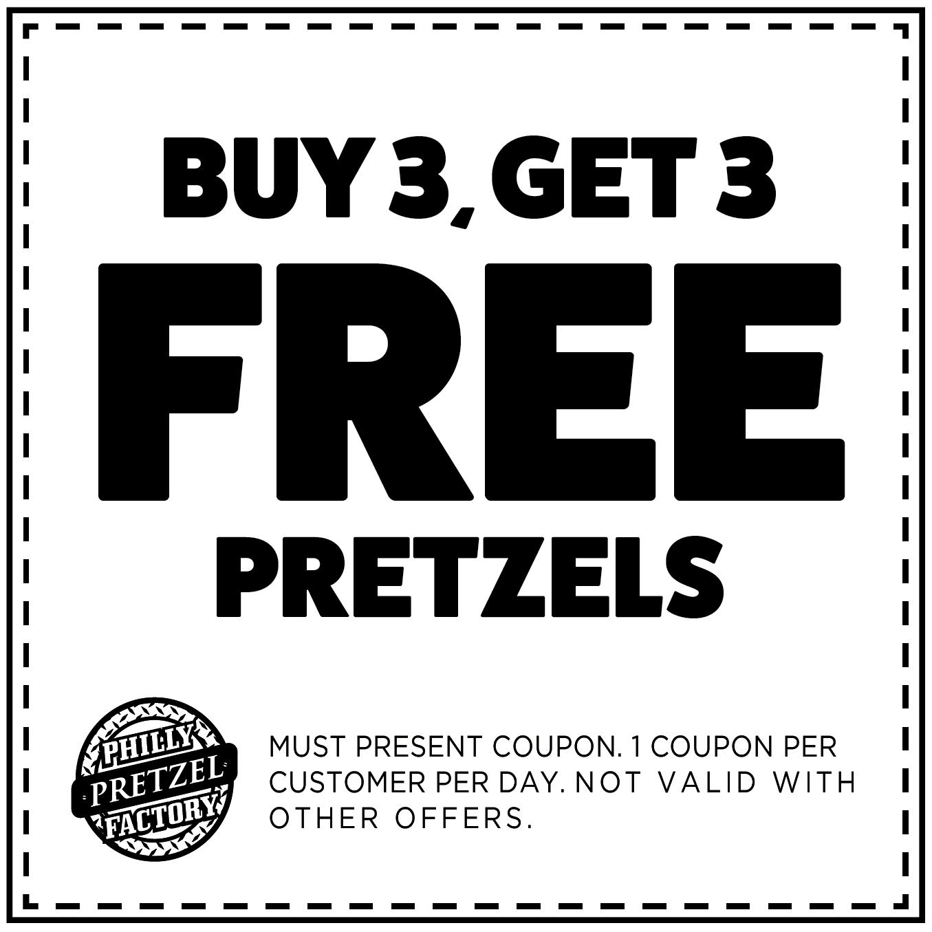 Buy 3, Get 3 Free Pretzels