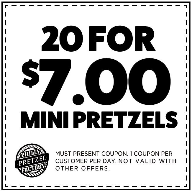 20 for $7.00 Mini Pretzels