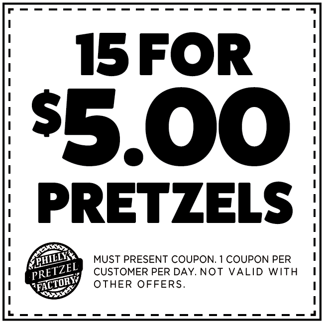 image about Philly Pretzel Factory Coupons Printable identify Toms River, NJ - Philly Pretzel Manufacturing facility