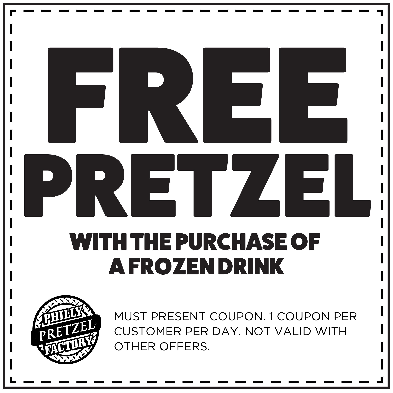 (1) Free Pretzel with Frozen Drink Purchase